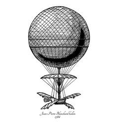 jean-pierre blanchard balloon vector image