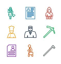 Job icons vector