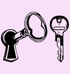 Key keyhole vector