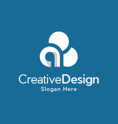letter a cloud creative business modern logo vector image