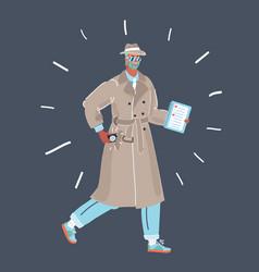 man in trench coat vector image