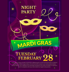 Mardi gras party poster vector