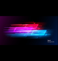 Modern abstract neon sport background or collage vector