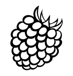 monochrome raspberry logo vector image