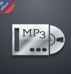 mp3 player icon symbol 3D style Trendy modern vector image