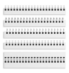 Notebook spiral binding sheets iron wired spirals vector
