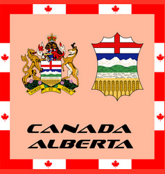 Official government elements of canada - alberta vector