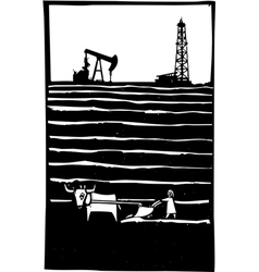 Oil and farm vector