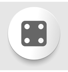 one dices - side with 4 vector image