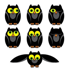 Owl set vector