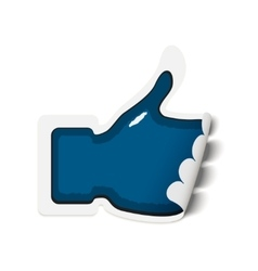 paper sticker with thumb up vector image