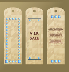 Paper tag with rich stone label collection of vector