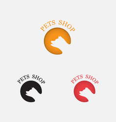pets shop icon designdog logo abstract design vector image