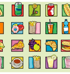 pop art food pattern vector image