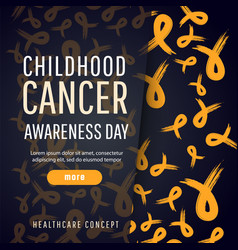 poster for childhood cancer awareness day vector image