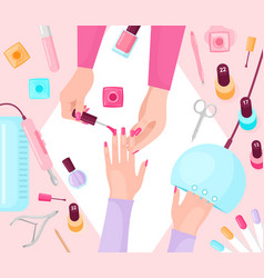 professional manicure table flat vector image