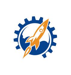 Rocket logo available vector