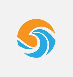 sea logo vector image
