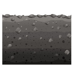 Seamless design with black soil vector image