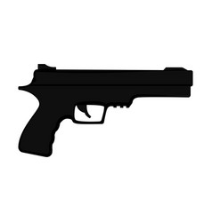 silhouette of a revolver vector image