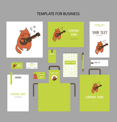 spring animalistic elements of corporate identity vector image
