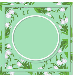 Spring floral abstract background with snowdrop vector