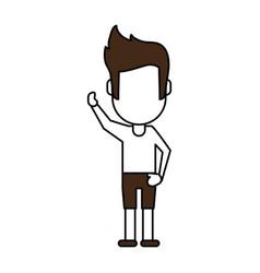 Standing man design vector