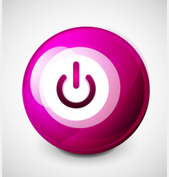 start power sphere button ui icon design on off vector image