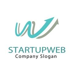 Startup web design vector