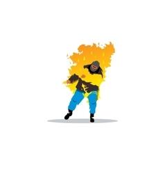 Stuntman Burning man sign vector