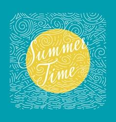 Summertime Handwritten doodle vector