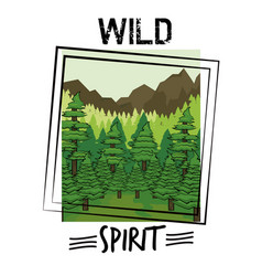 wild nature spirit print for t shirt vector image
