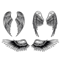 wings set 6 vector image