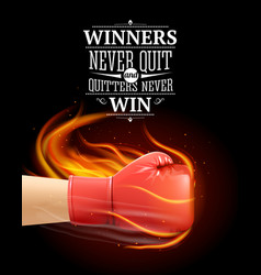 winners and quitters quotes vector image