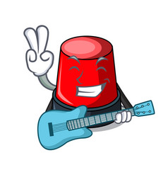 With guitar sirine mascot cartoon style vector