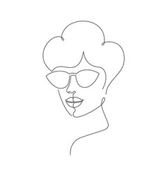 woman in sunglasses vector image