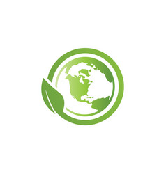 World environment logo icon template vector