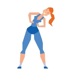 Young girl exercise healthy workout gym sport vector image