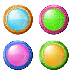 Colorful round buttons set vector