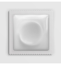Condom wrapper package white blank template vector image