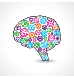 creative mind or brain with colorful gears vector image vector image