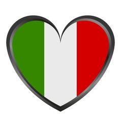 heart with Italy flag vector image