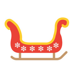santa sleigh flat icon new year and christmas vector image vector image