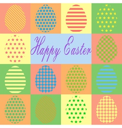 Set of easter eggs vector image