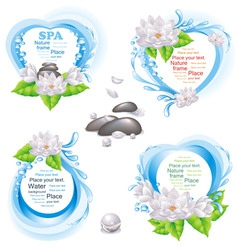set of nature frames vector image vector image