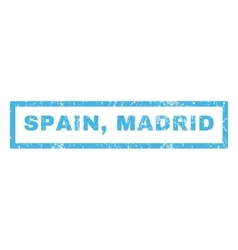 Spain Madrid Rubber Stamp vector image