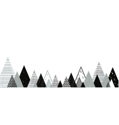 christmas winter landscape background abstract vector image vector image