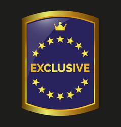 exclusive label vector image vector image