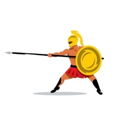 Gladiator Warrior Cartoon vector image