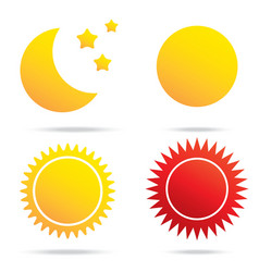moon sun and star symbol vector image vector image